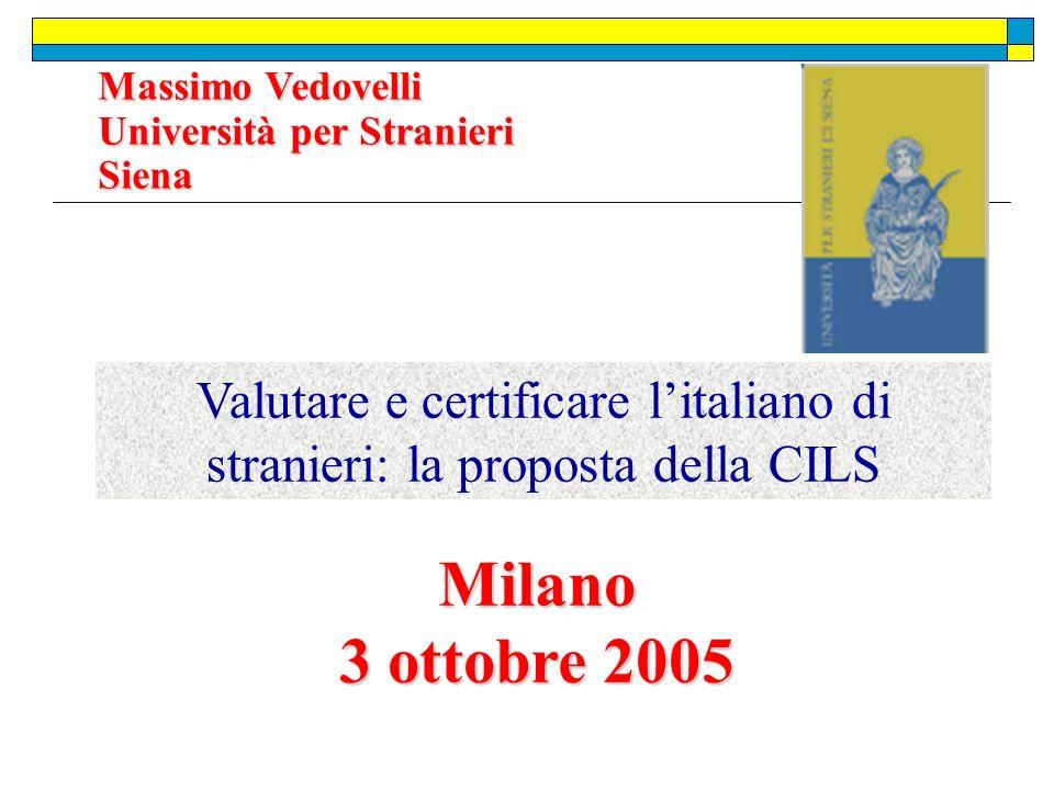 Valutare e certificare l'italiano di stranieri: la proposta della CILS