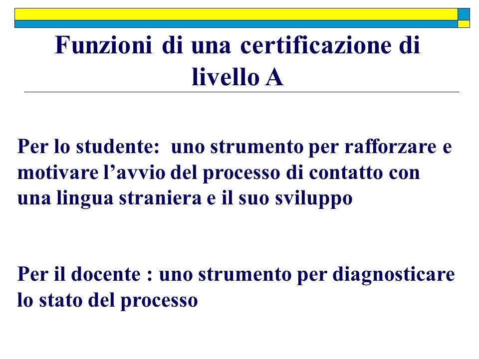 Funzioni di una certificazione di