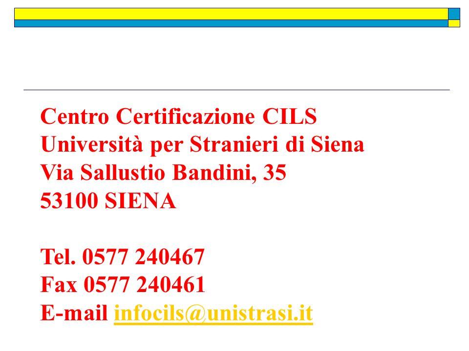 Centro Certificazione CILS