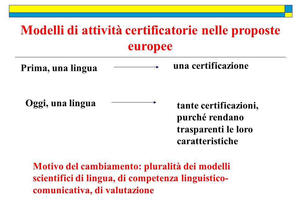 Modelli di attività certificatorie nelle proposte europee