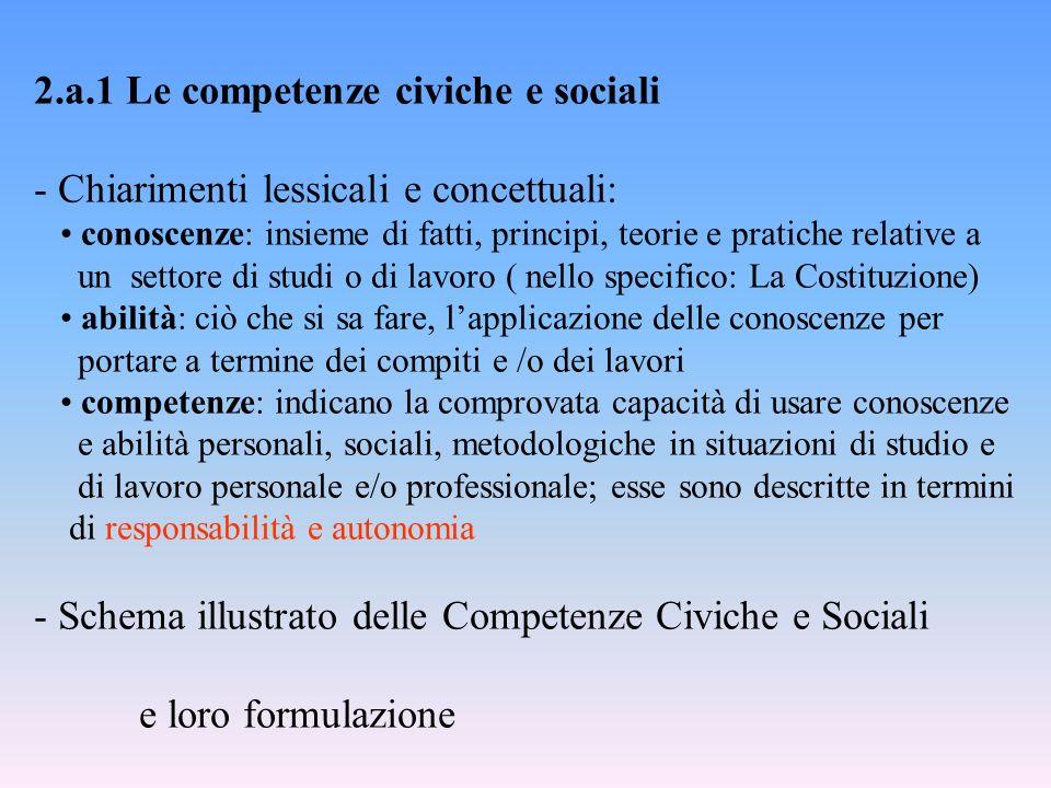 2.a.1 Le competenze civiche e sociali