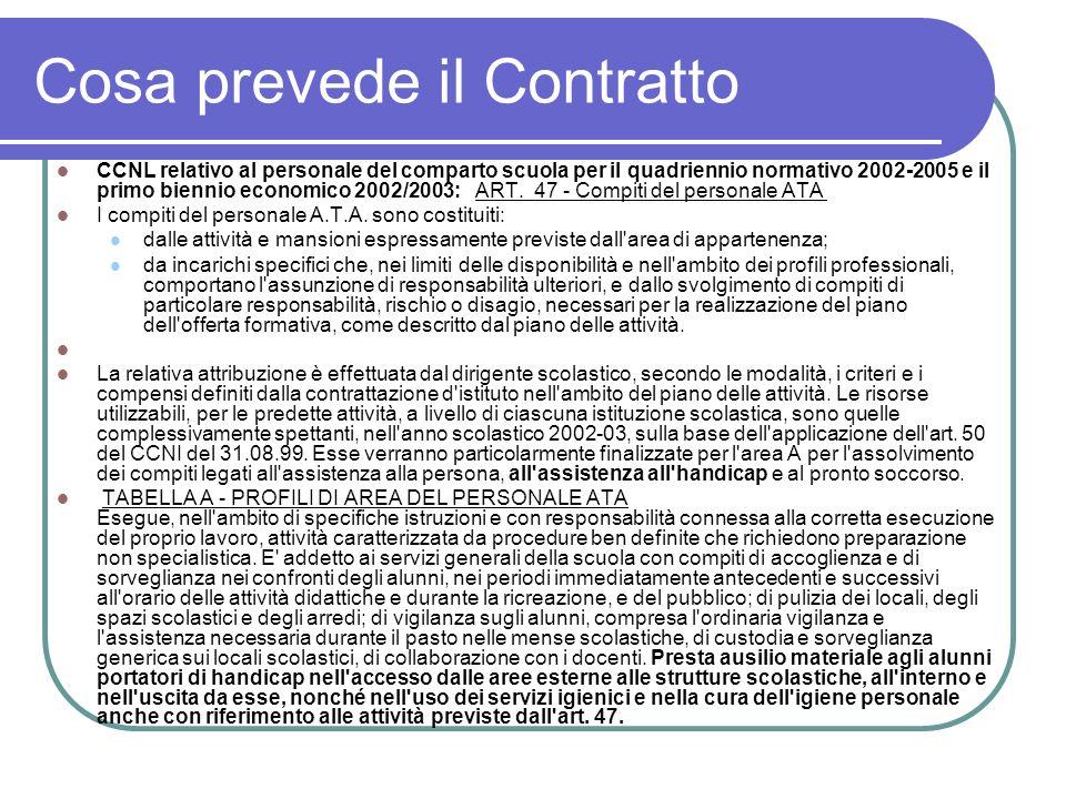 Cosa prevede il Contratto