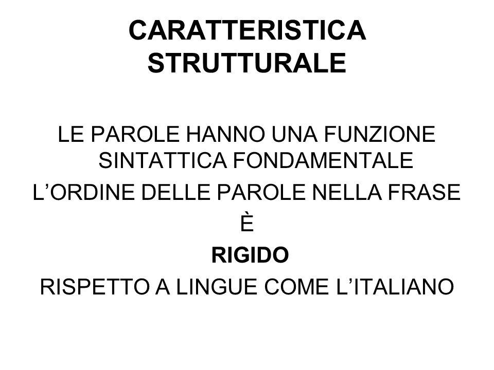 CARATTERISTICA STRUTTURALE