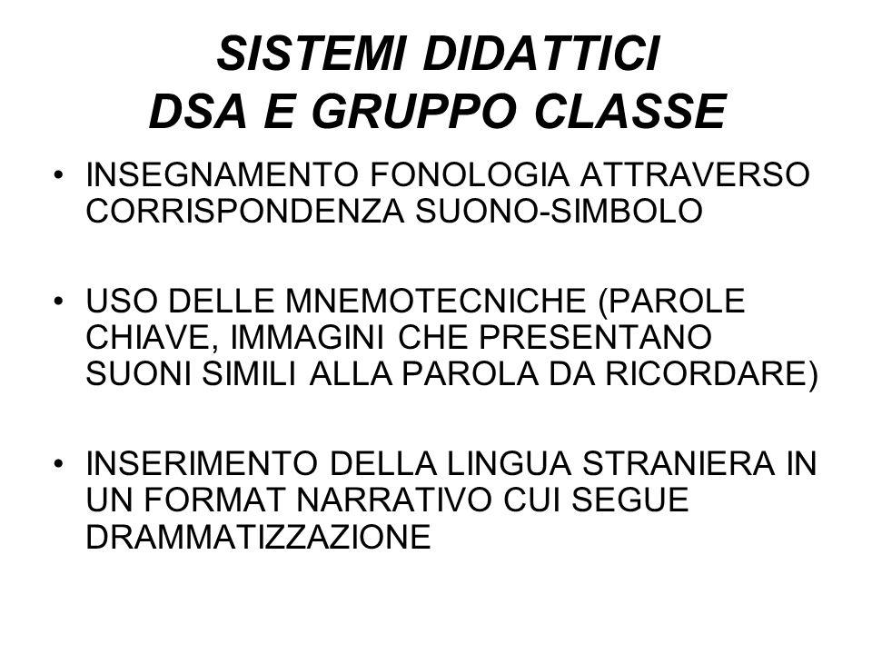 SISTEMI DIDATTICI DSA E GRUPPO CLASSE