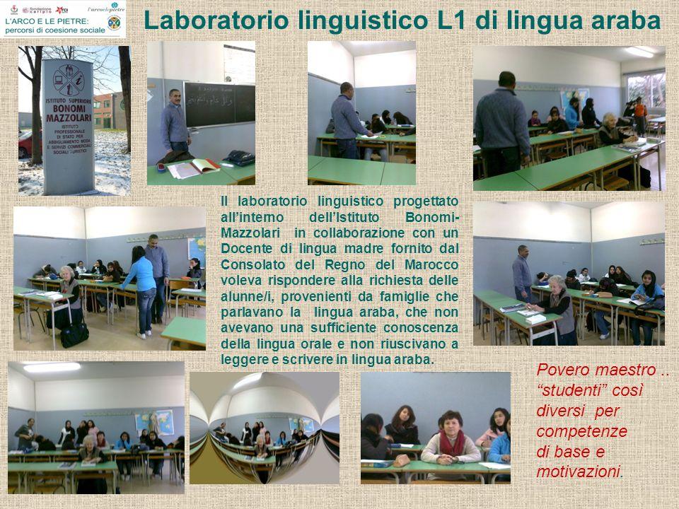 Laboratorio linguistico L1 di lingua araba