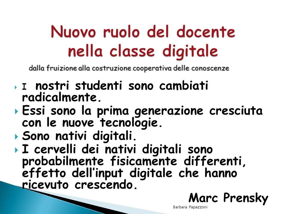 Nuovo ruolo del docente nella classe digitale