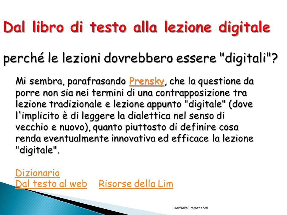 Dal libro di testo alla lezione digitale