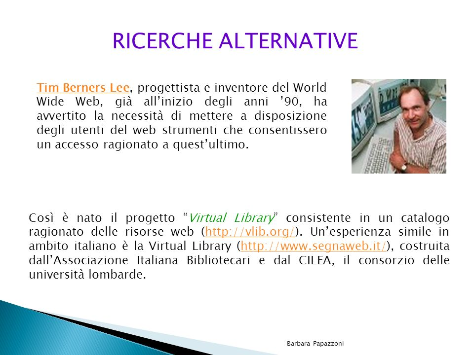 RICERCHE ALTERNATIVE