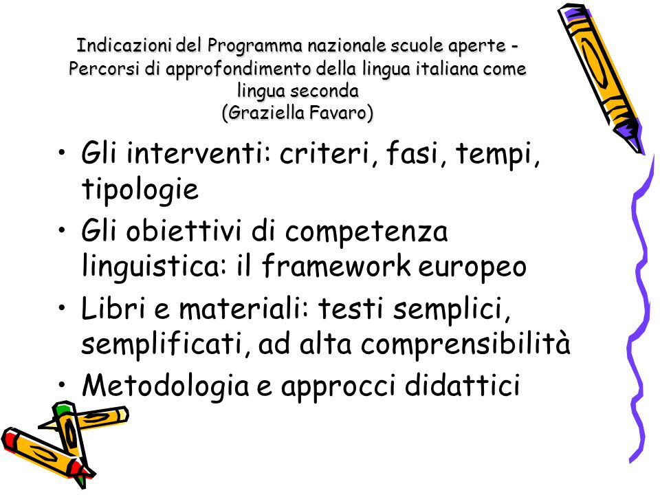 Gli interventi: criteri, fasi, tempi, tipologie