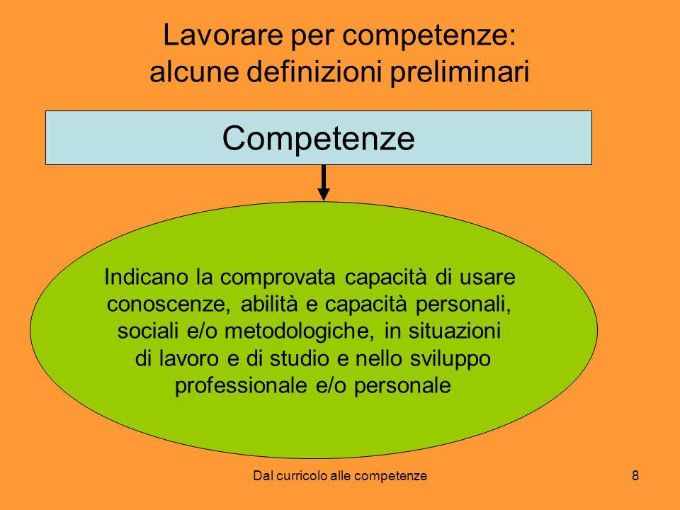 Lavorare per competenze: alcune definizioni preliminari