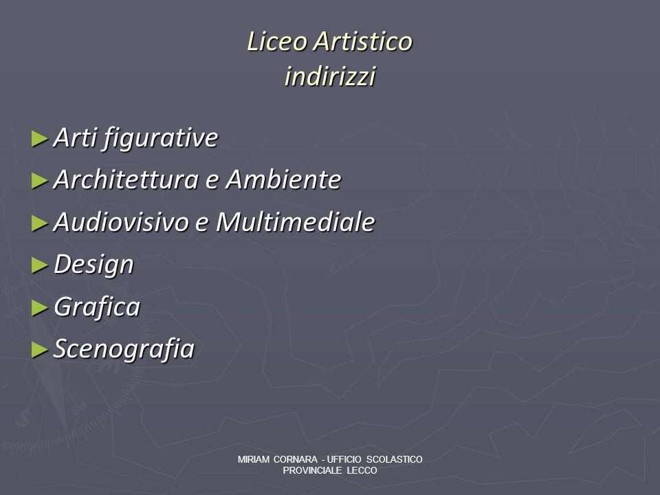 Liceo Artistico indirizzi