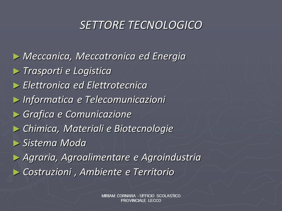 MIRIAM CORNARA - UFFICIO SCOLASTICO PROVINCIALE LECCO