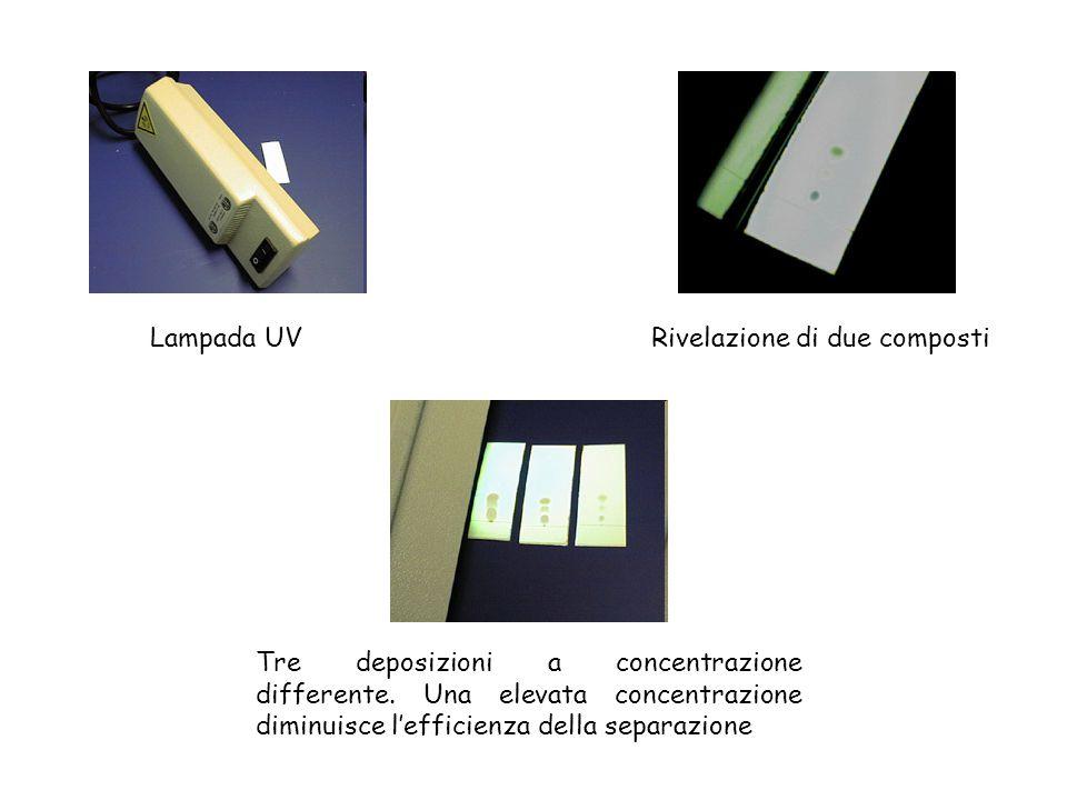 Lampada UV Rivelazione di due composti.