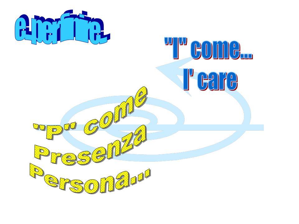 e...per finire... I come... I care P come Presenza Persona...