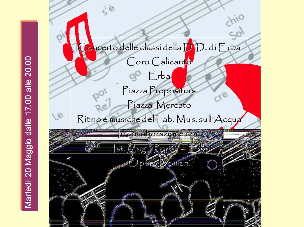 Concerto delle classi della D. D. di Erba Coro Calicanto Erba