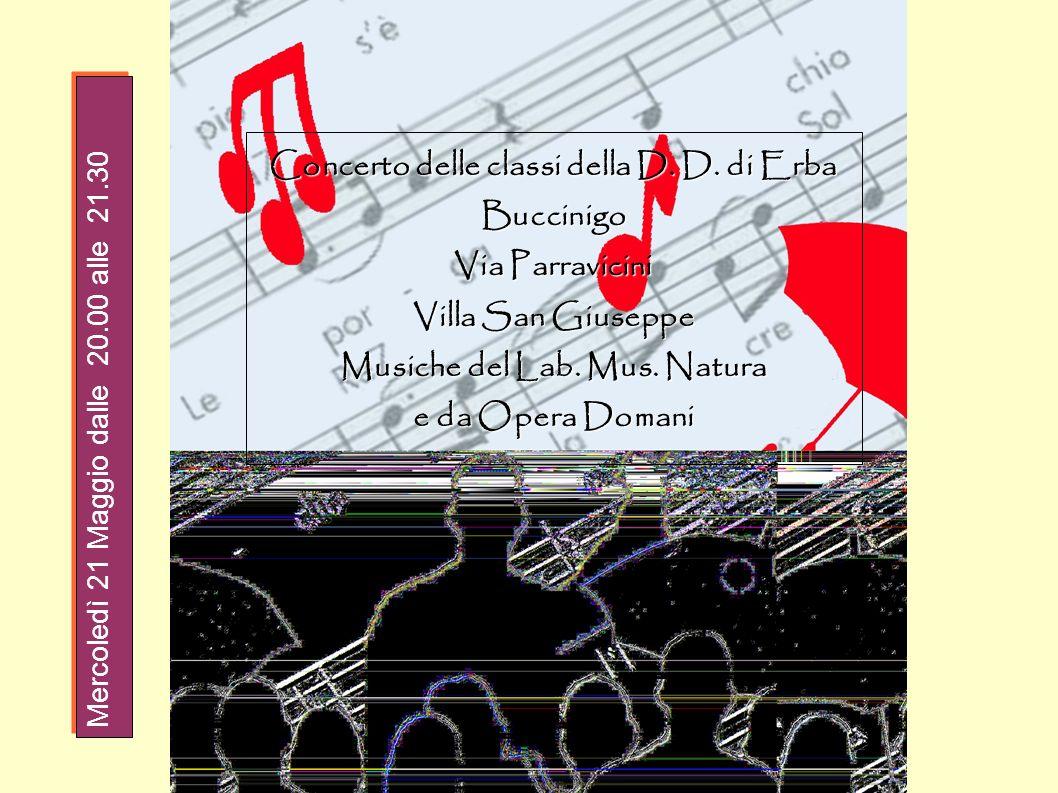 Concerto delle classi della D. D. di Erba Musiche del Lab. Mus. Natura