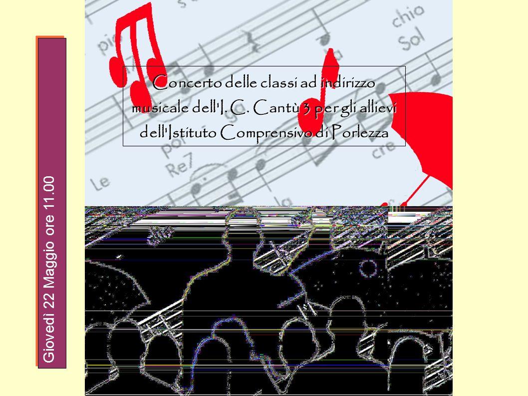 Concerto delle classi ad indirizzo musicale dell I. C