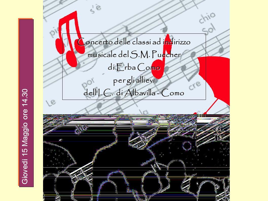 Concerto delle classi ad indirizzo musicale del S.M. Puecher