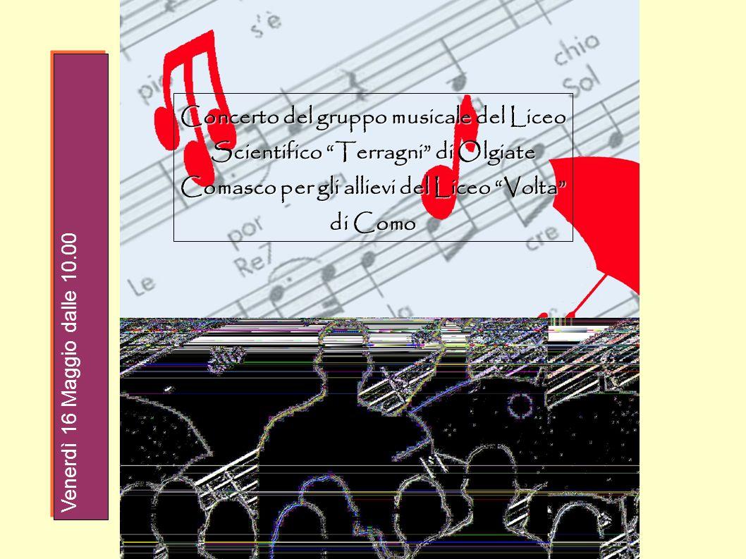 Concerto del gruppo musicale del Liceo Scientifico Terragni di Olgiate Comasco per gli allievi del Liceo Volta di Como