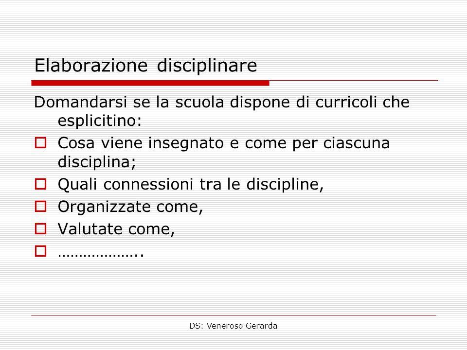 Elaborazione disciplinare