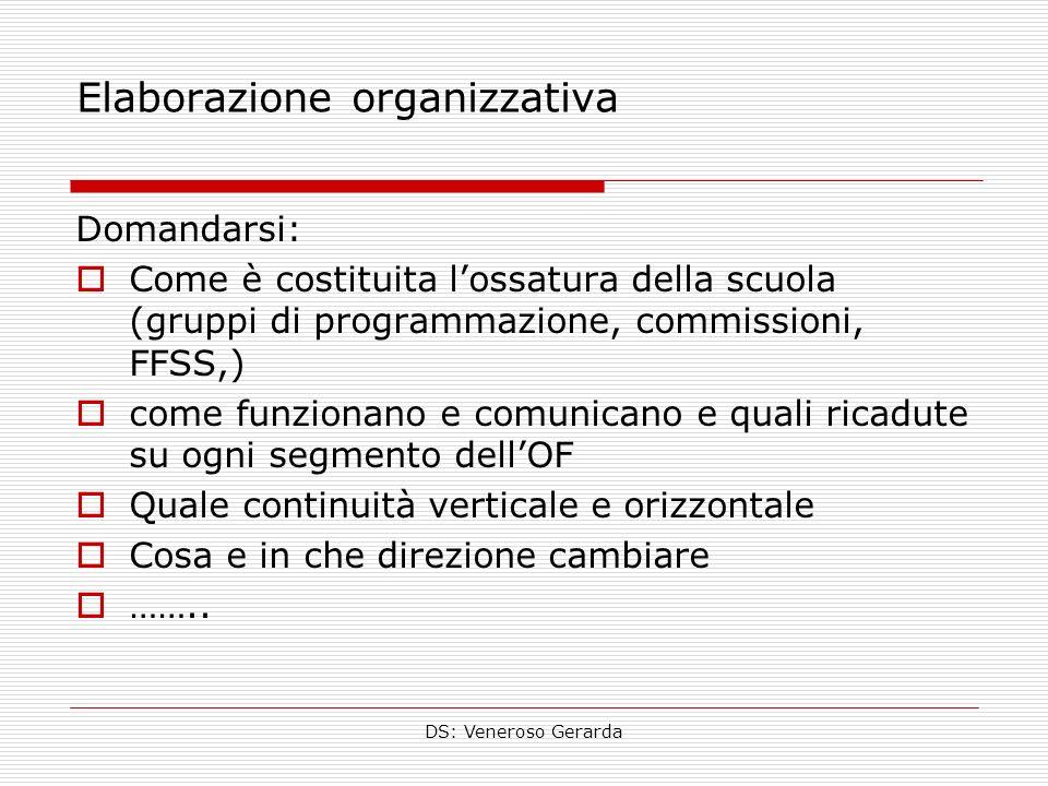 Elaborazione organizzativa