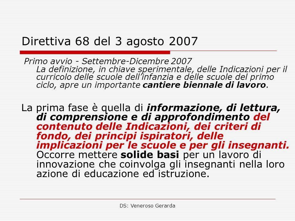 Direttiva 68 del 3 agosto 2007