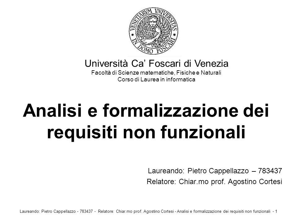 Analisi e formalizzazione dei requisiti non funzionali