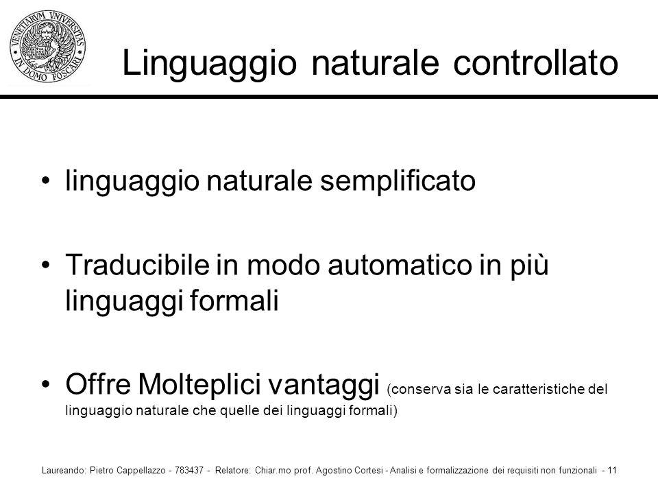 Linguaggio naturale controllato