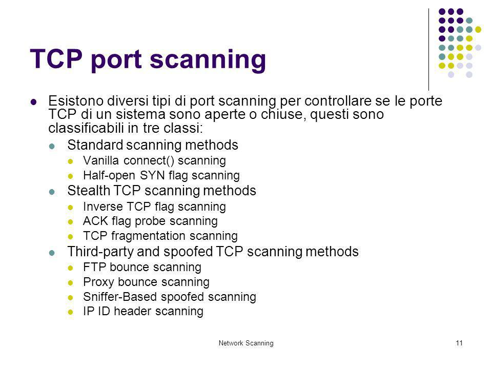 TCP port scanning