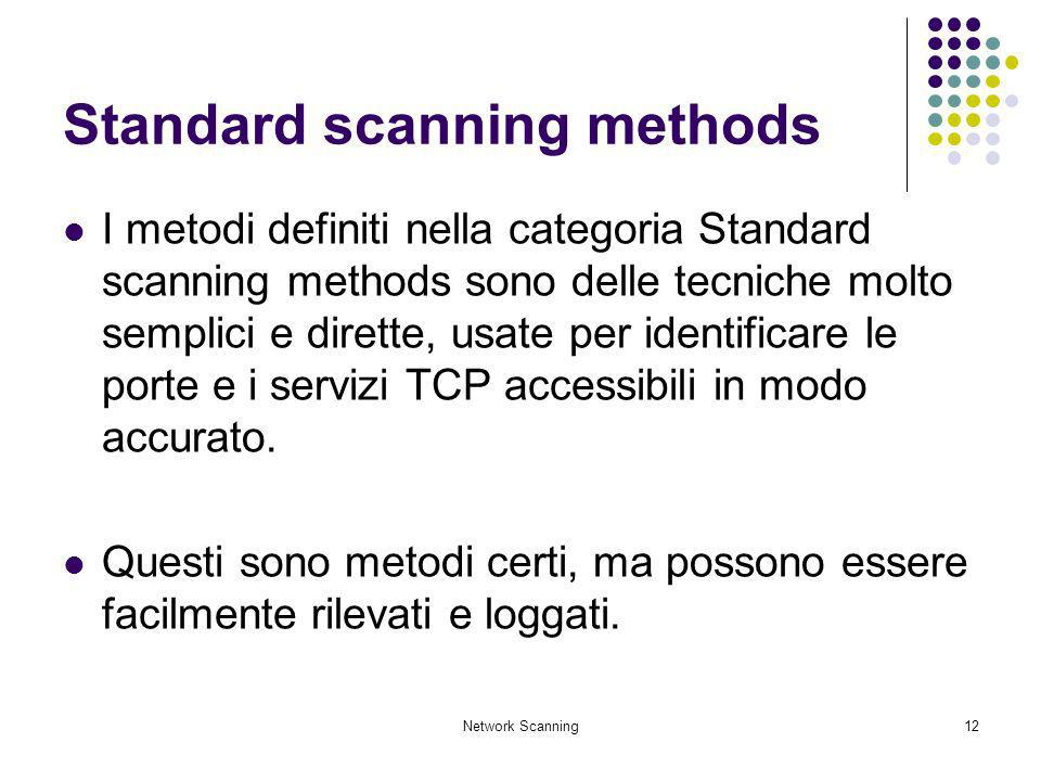 Standard scanning methods