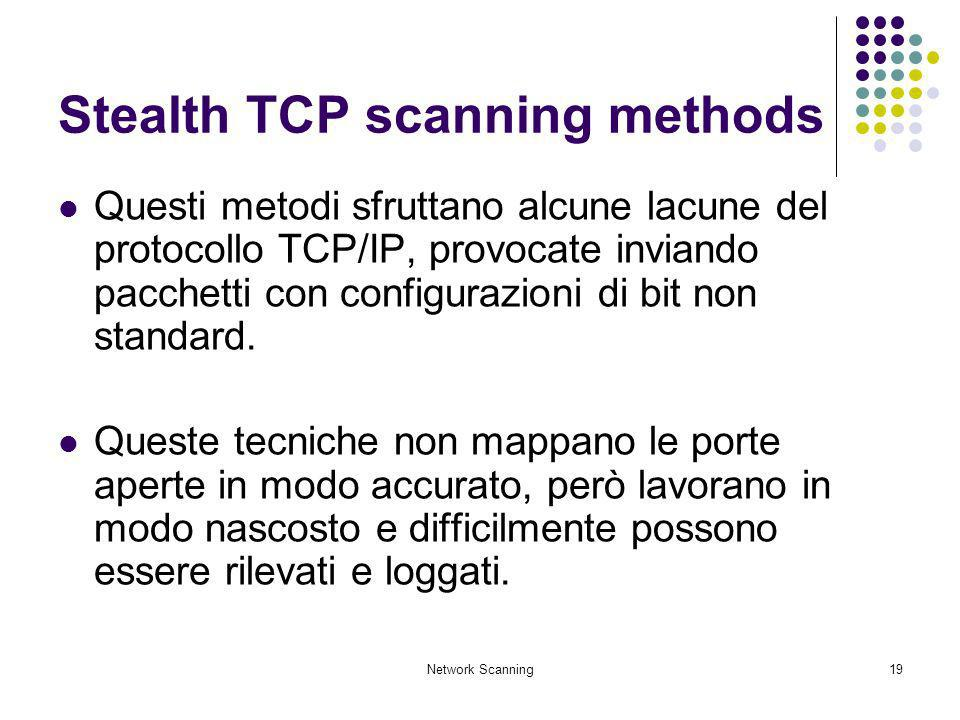 Stealth TCP scanning methods