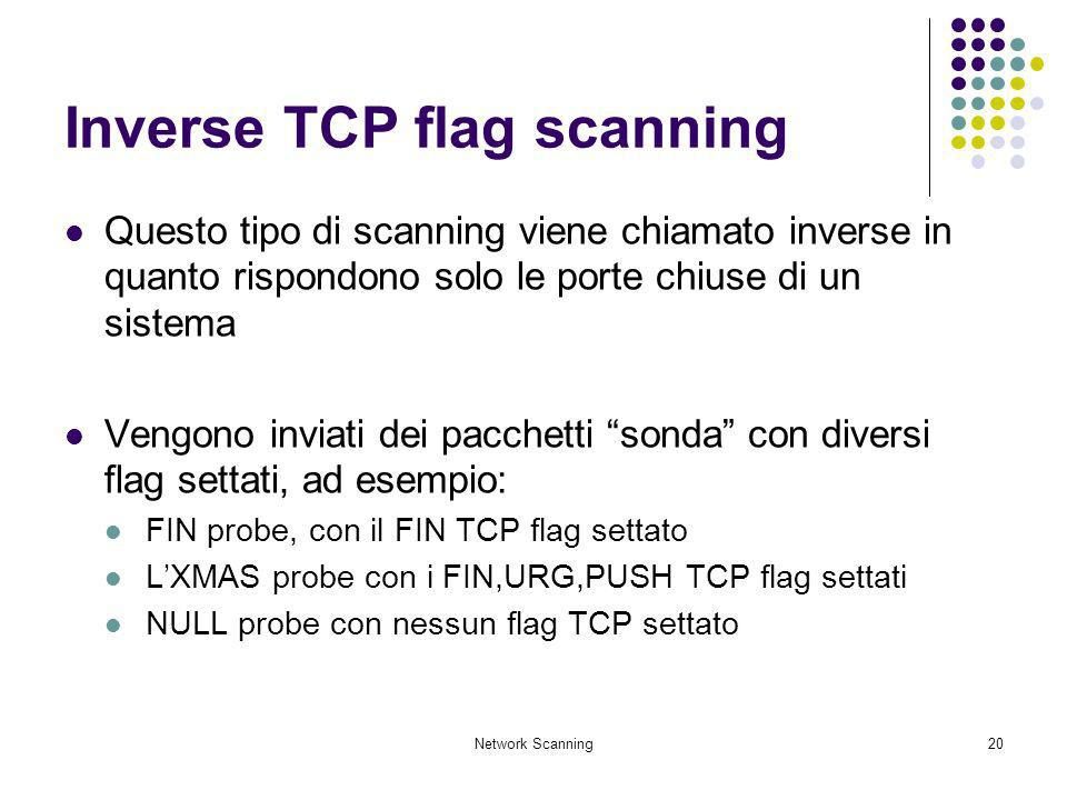 Inverse TCP flag scanning
