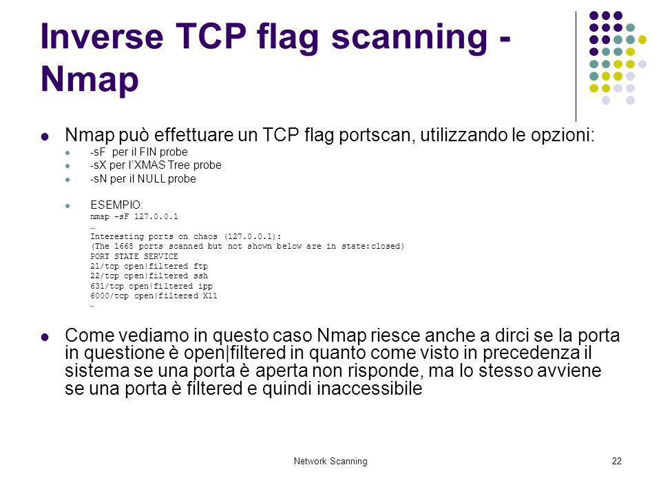 Inverse TCP flag scanning - Nmap