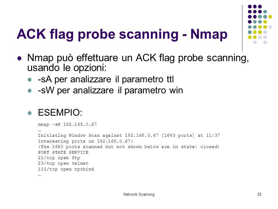 ACK flag probe scanning - Nmap