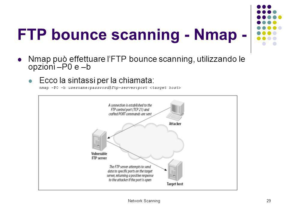 FTP bounce scanning - Nmap -
