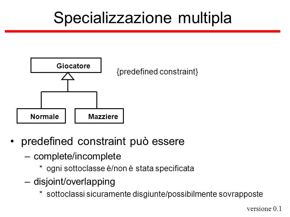 Specializzazione multipla