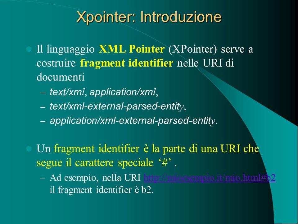 Xpointer: Introduzione