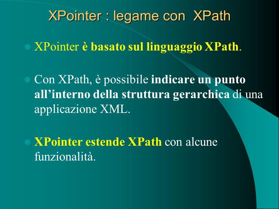 XPointer : legame con XPath