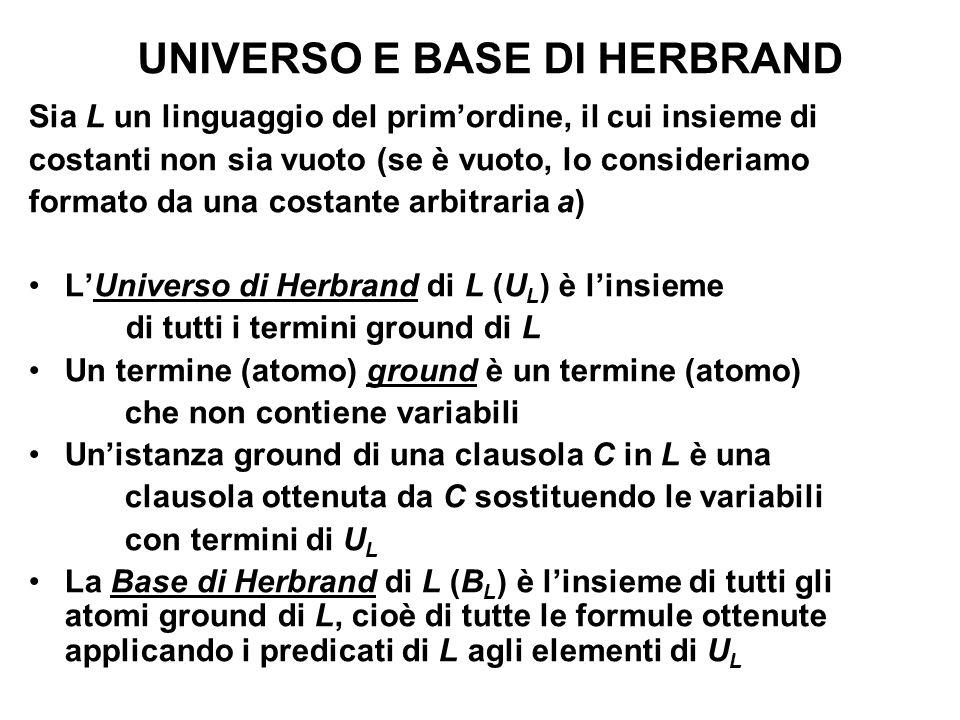 UNIVERSO E BASE DI HERBRAND