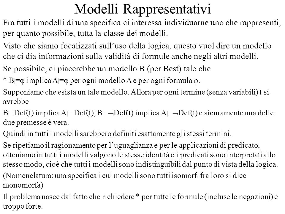 Modelli Rappresentativi
