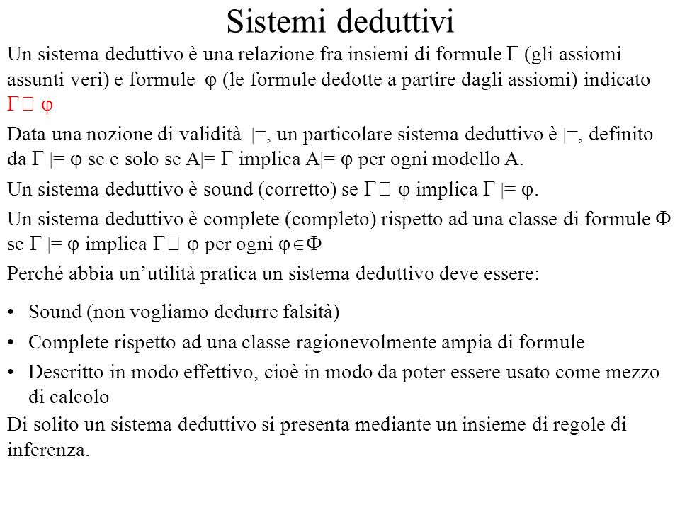 Sistemi deduttivi