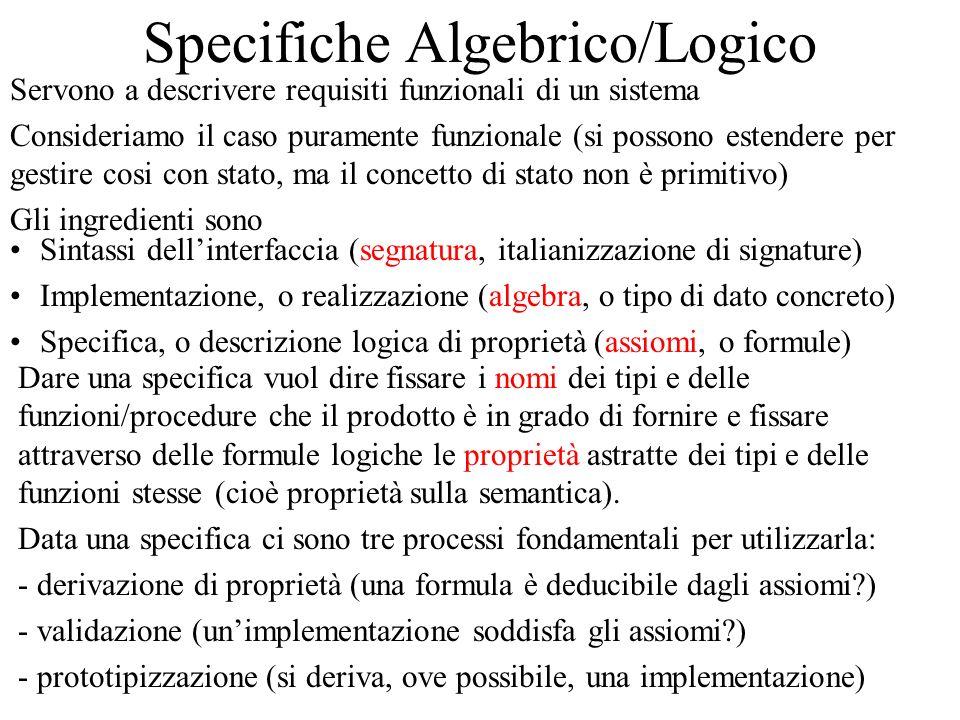 Specifiche Algebrico/Logico