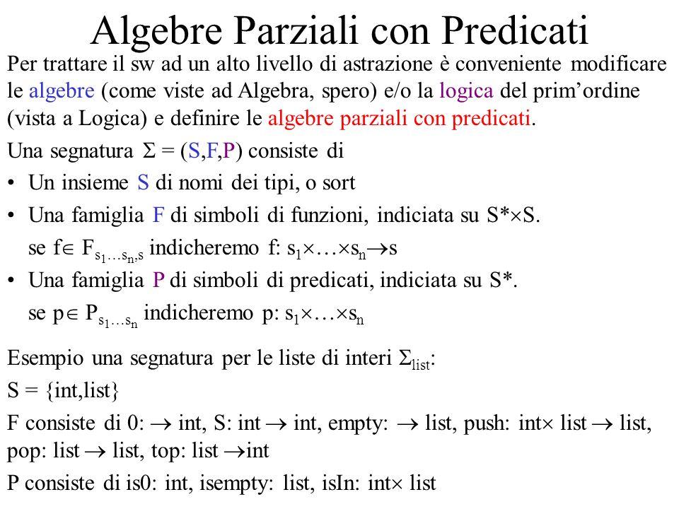 Algebre Parziali con Predicati