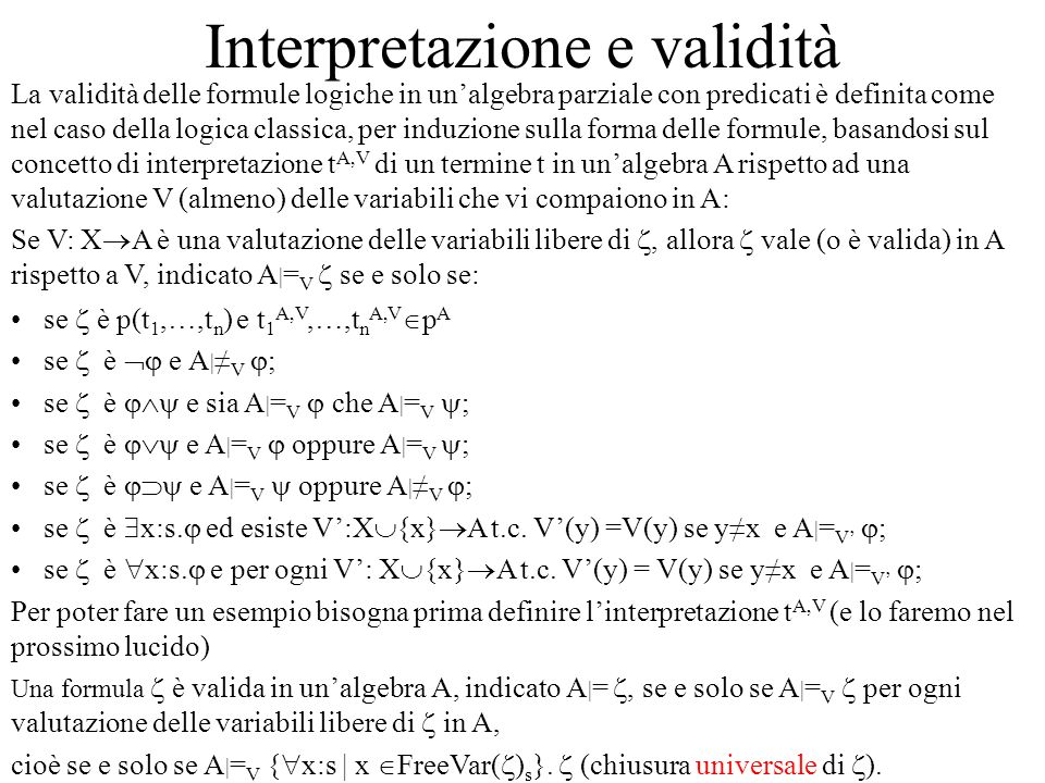 Interpretazione e validità