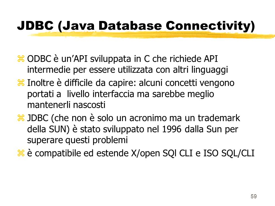 JDBC (Java Database Connectivity)