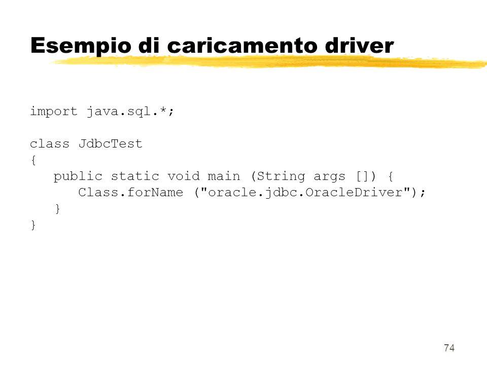 Esempio di caricamento driver
