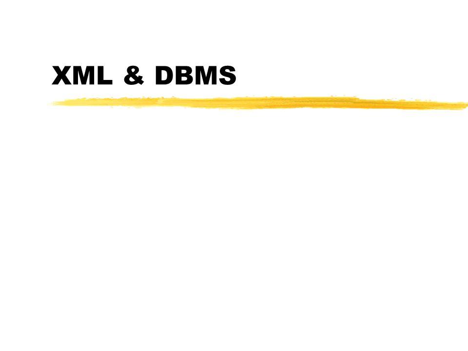 XML & DBMS