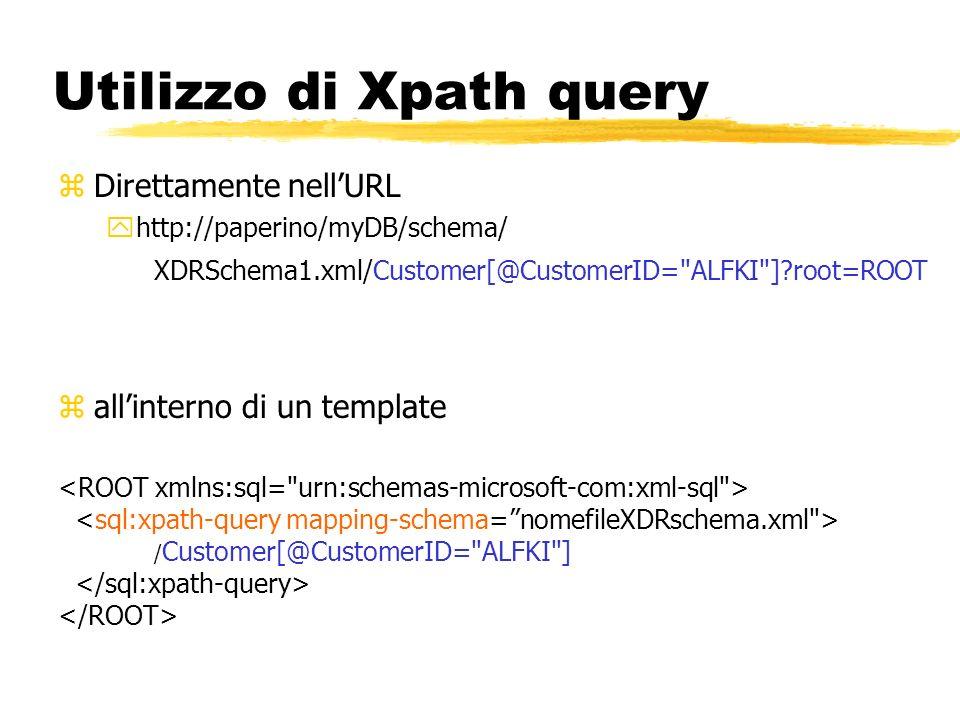Utilizzo di Xpath query