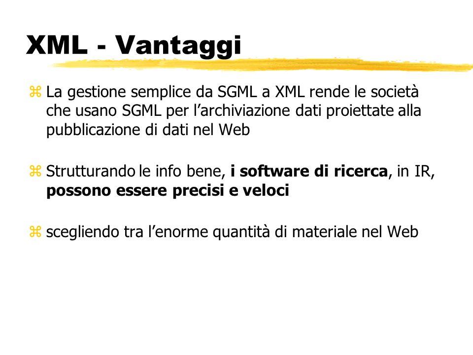 XML - Vantaggi