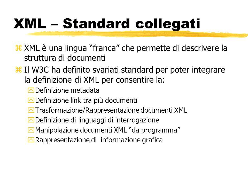 XML – Standard collegati